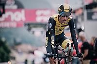 George Bennett (NZL/LottoNL-Jumbo) crossing the finish line<br /> <br /> stage 16: Trento – Rovereto iTT (34.2 km)<br /> 101th Giro d'Italia 2018
