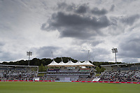A general view towards the pavilion at the Hampshire Bowl during India vs New Zealand, ICC World Test Championship Final Cricket at The Hampshire Bowl on 22nd June 2021