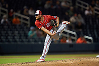 Washington Nationals pitcher Dakota Bacus (55) during a Major League Spring Training game against the Houston Astros on March 19, 2021 at The Ballpark of the Palm Beaches in Palm Beach, Florida.  (Mike Janes/Four Seam Images)