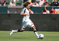 New England Revolution midfielder Kevin Alston moves with the ball. Chivas USA defeated the New England Revolution 2-0 at Home Depot Center stadium in Carson, California on Sunday September 13, 2009...