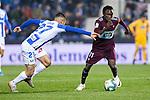CD Leganes's  Oscar Rodriguez Arnaiz (L) and RC Celta de Vigo's Pione Sisto during La Liga match 2019/2020 round 16<br /> December 8, 2019. <br /> (ALTERPHOTOS/David Jar)