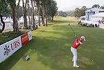 Danny Willett of England tees off the first hole during the 58th UBS Hong Kong Golf Open as part of the European Tour on 11 December 2016, at the Hong Kong Golf Club, Fanling, Hong Kong, China. Photo by Vivek Prakash / Power Sport Images