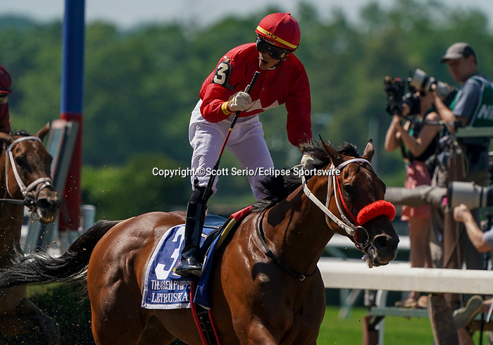 June 5, 2021: Letruska, #3, ridden by jockey Jose Ortiz, wins the Ogden Phipps Win and You're In Stakes on Belmont Stakes Day at Belmont Park in Elmont, New York. Scott Serio/Eclipse Sportswire/CSM