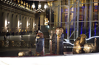 nativity crib in Saint Peter's Square at the Vatican.14 december 2020