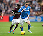 Hearts v St Johnstone...02.08.15   SPFL Tynecastle, Edinburgh<br /> Michael O'Halloran is tracked by Prince Buaben<br /> Picture by Graeme Hart.<br /> Copyright Perthshire Picture Agency<br /> Tel: 01738 623350  Mobile: 07990 594431