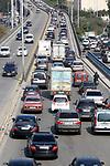 Cars drive along a road, amid the spread of the Coronavirus COVID-19, in Beirut, Lebanon on February 11, 2021. Photo by Marwan Bou Haidar