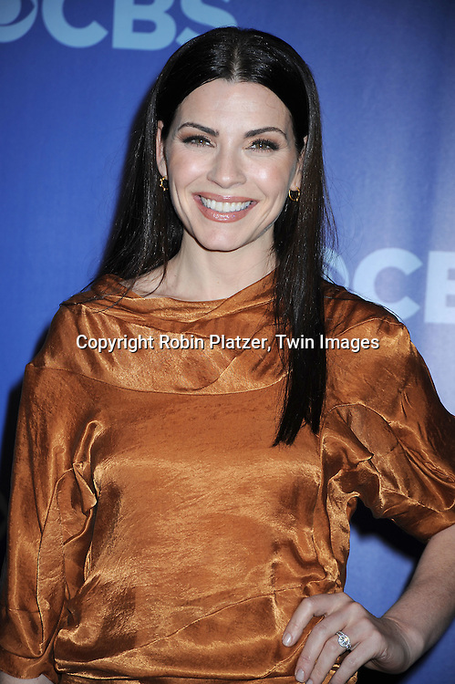 """Julianna Margulies of """" The Good Wife""""  arriving at The CBS UPfront presentation of their 2010-2011 Fall Season on May 19, 2010 at Lincoln Center in New York City."""
