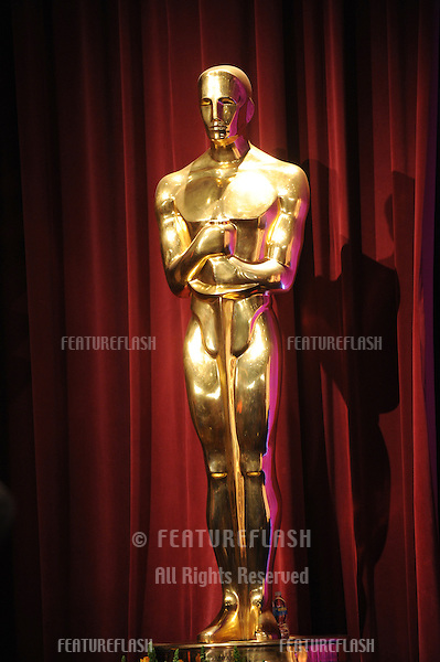 at the Samuel Goldwyn Theater at the Academy of Motion Picture Arts & Sciences in Beverly Hills where the nominees for the 80th Academy Awards were announced..Oscar® statue © AMPAS..January 22, 2008  Beverly Hills, CA.Picture: Paul Smith / Featureflash