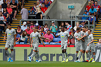 GOAL - Vedad Ibišević of Hertha Berlin is congratulated during the pre season friendly match between Crystal Palace and Hertha BSC at Selhurst Park, London, England on 3 August 2019. Photo by Carlton Myrie / PRiME Media Images.