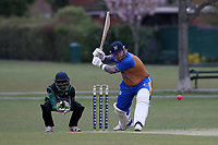 Alan Ison in batting action for Upminster during Upminster CC (batting) vs Ilford CC, Hamro Foundation Essex League Cricket at Upminster Park on 8th May 2021