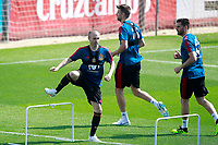 Spain's Andres Iniesta, Gerard Pique and Nacho Fernandez during training session. May 31,2018.(ALTERPHOTOS/Acero) /NortePhoto.com