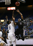 Cheyenne's Ke'shawn Hall shoots past Desert Pines defender Darius Mitchell during the NIAA 3A state basketball championship game in Reno, Nev., on Saturday, Feb. 24, 2018. Desert Pines won 48-44 in overtime. Cathleen Allison/Las Vegas Review-Journal