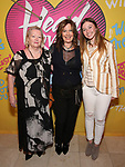 Kathy Valentine with her mother and daughter attends the Opening Night Performance After Party for  'Head Over Heels' at Gustavino's  on July 26, 2018 in New York City.