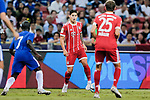 Bayern Munich Midfielder James Rodríguez (C) in action during the International Champions Cup match between Chelsea FC and FC Bayern Munich at National Stadium on July 25, 2017 in Singapore. Photo by Marcio Rodrigo Machado / Power Sport Images