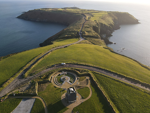 The Old Head of Kinsale Napoleonic Tower and Memorial Garden in the foreground
