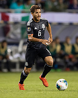 CHICAGO, IL - JULY 7: Jonathan Dos Santos #6 during a game between Mexico and USMNT at Soldiers Field on July 7, 2019 in Chicago, Illinois.