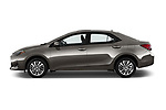Car driver side profile view of a 2017 Toyota Corolla XLE Premium 4 Door Sedan