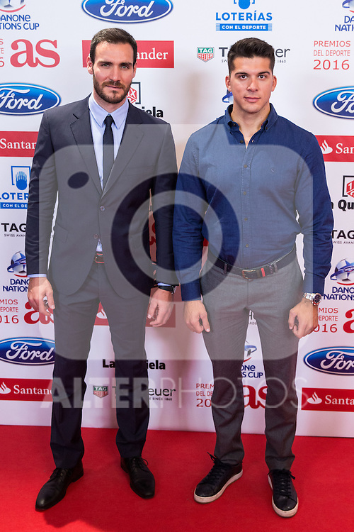 "Saul Cravioto and Cristian Toro during the ""As sports Awards"" at Palace Hotel in Madrid, Spain. december 19, 2016. (ALTERPHOTOS/Rodrigo Jimenez)"