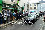 The of Danny Leane stops outside the Abbey Inn bar on December 28th.