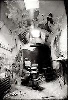 Abandoned barbershop chair<br />