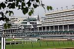 LOUISVILLE, KY - APRIL 28: Churchill Downs grandstand, Louisville, KY. (Photo by Mary M. Meek/Eclipse Sportswire/Getty Images)