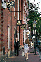 Beacon Hill shops on Charles Street Boston MA