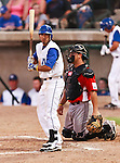 Fort Worth Cats 2nd Baseman Cory Morales (18) in action during the American Association of Independant Professional Baseball game between the El Paso Diablos and the Fort Worth Cats at the historic LaGrave Baseball Field in Fort Worth, Tx. Fort Worth defeats El Paso 10 to 9.