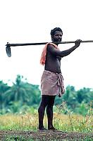 Bauer in Backwaters von Cochin (Kerala), Indien