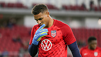 WASHINGTON, D.C. - OCTOBER 11: Zack Steffen #22 of the United States warming up during their Nations League match versus Cuba at Audi Field, on October 11, 2019 in Washington D.C.