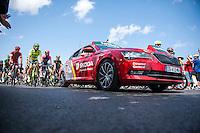 Castellon, SPAIN - SEPTEMBER 7: Official car during LA Vuelta 2016 on September 7, 2016 in Castellon, Spain