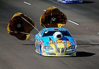 Oct. 15, 2011; Chandler, AZ, USA; NHRA pro stock driver Greg Stanfield during qualifying at the Arizona Nationals at Firebird International Raceway. Mandatory Credit: Mark J. Rebilas-