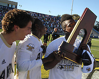 of the University of Akron during the 2010 College Cup final against the University of Louisville at Harder Stadium, on December 12 2010, in Santa Barbara, California.Akron champions, 1-0.