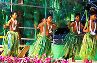 Dancers perform at the annual Rain Tree Festival on the island of Saipan located near the island of Guam in the southwest pacific area.