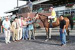 07 17 2010: Stradivinsky & C.C. Lopez power to the finish in the Grade III Jaipur Stakes, at 6 furlongs on the inner turf, 3-year old & up.  Trainer Richard Dutrow.  Owner Michael Dubb, Jack Mandato, Bethlehem Stables.