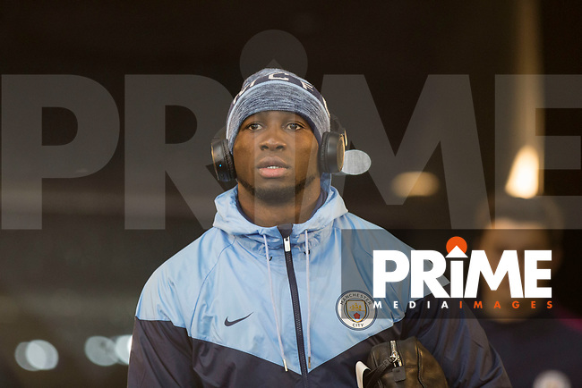 Eliaquim Mangala of Manchester City arrives for the EPL - Premier League match between Swansea City and Manchester City at the Liberty Stadium, Swansea, Wales on 13 December 2017. Photo by Mark  Hawkins / PRiME Media Images.