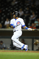 Mesa Solar Sox shortstop Addison Russell (9) during an Arizona Fall League game against the Salt River Rafters on October 18, 2014 at Cubs Park in Mesa, Arizona.  Mesa defeated Salt River 8-4.  (Mike Janes/Four Seam Images)