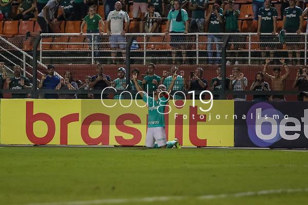 São Paulo (SP), 29/01/2020 - Palmeiras-Oeste - Willian, do Palmeiras comemora seu gol, em partida contra o Oeste, válida pela 03ª rodada do Campeonato Paulista, no estádio do Pacaembú, em São Paulo (SP), nesta quarta-feira (29).
