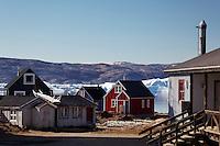 Settlement of Tiniteqilaaq on Sermilik Fjord, East Greenland