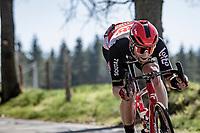 Tomasz Marczyński (POL/Lotto Soudal)  descending the Côte de Stockeu<br /> <br /> 107th Liège-Bastogne-Liège 2021 (1.UWT)<br /> 1 day race from Liège to Liège (259km)<br /> <br /> ©kramon