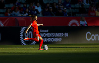 CARSON, CA - FEBRUARY 07: Janine Beckie #16 of Canada during a game between Canada and Costa Rica at Dignity Health Sports Park on February 07, 2020 in Carson, California.