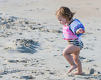 Avon, Outer Banks, North Carolina.  Two-year-old Decides it's Time to go Home.