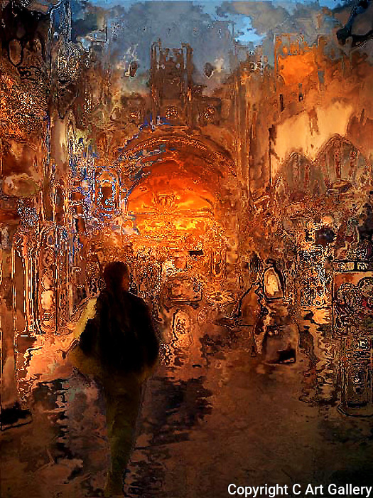 Lost in a Strange Place - Photo art by Alan Mahood