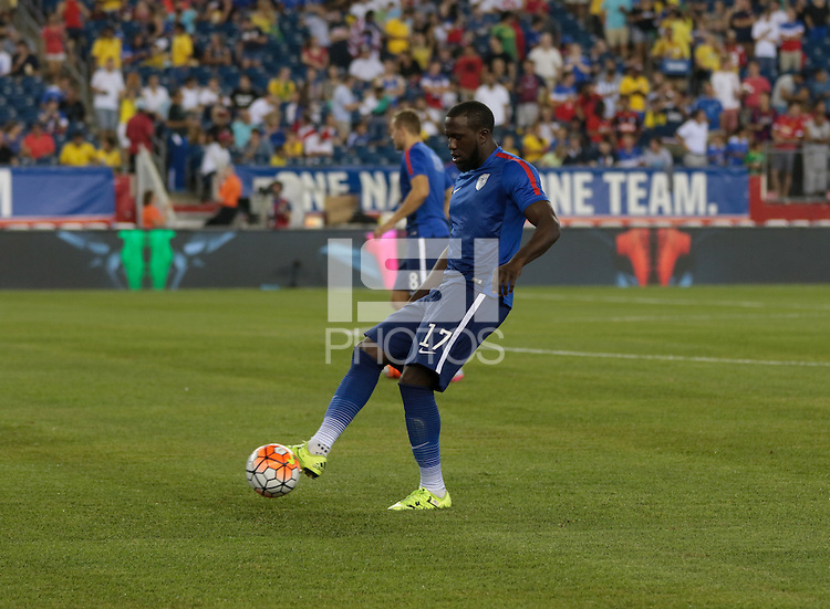 Foxborough, Mass. - Tuesday, September 8, 2015: The USMNT take on Brazil in an international friendly game at Gillette stadium.