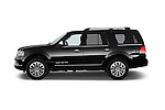 Car Driver side profile view of a 2015 Lincoln Navigator 2Wd AT 5 Door Suv 2WD Side View