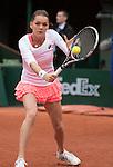 May 23, 2016:  Agnieszka Radwanska (POL) defeated Bojana Jovanovski (SRB) 6-0. 6-2, at the Roland Garros being played at Stade Roland Garros in Paris, .  ©Leslie Billman/Tennisclix/CSM