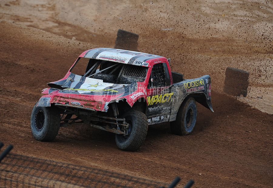 Mar. 20, 2011; Chandler, AZ, USA;  LOORRS pro two driver Robbie Pierce during round two at Firebird International Raceway. Mandatory Credit: Mark J. Rebilas-