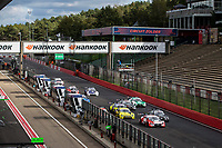 11th October 2020, Heusden-Zolder, Belgium; Germany Touring Car DTM Championships Race day;   Start of the race, 33 Ren Rast GER, Audi Team Rosberg, Audi RS 5 DTM taking the lead from 62 Ferdinand Habsburg AUT, WRT Team Audi Sport, Audi RS 5 DTM, 16 Timo Glock GER, BMW Team RMG, BMW M4 DTM