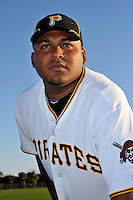 Feb 28, 2010; Bradenton, FL, USA; Pittsburgh Pirates  pitcher Jean Machi (68) during  photoday at Pirate City. Mandatory Credit: Tomasso De Rosa/ Four Seam Images