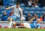 Nicky Law tackles Lewis Kidd