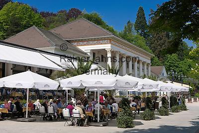 Germany, Baden-Wuerttemberg, Baden-Baden: spa building restaurant at spa gardens   Deutschland, Baden-Wuerttemberg, Baden-Baden: Kurhaus Restaurant im Kurpark